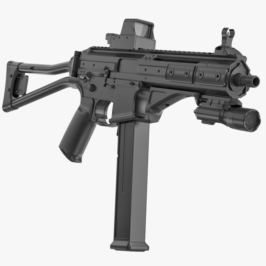 LWRC SMG-45 Inga material royalty-free 3d model - Preview no. 1