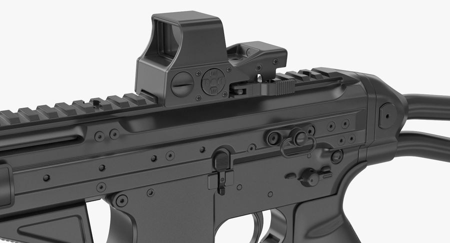 LWRC SMG-45 Inga material royalty-free 3d model - Preview no. 8