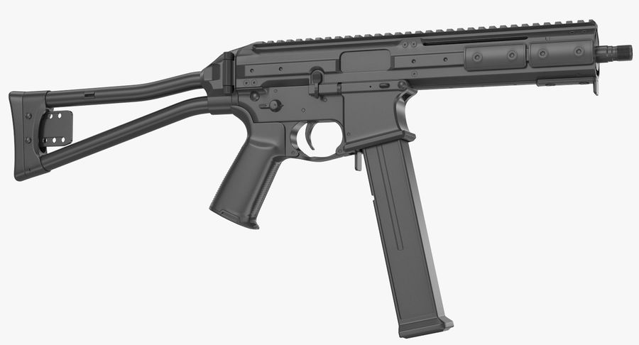 LWRC SMG-45 Inga material royalty-free 3d model - Preview no. 12