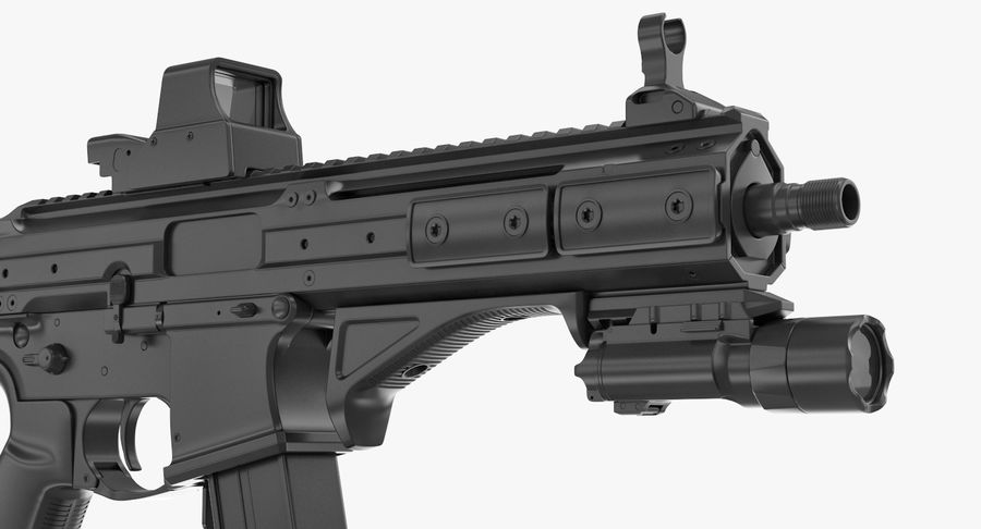 LWRC SMG-45 Inga material royalty-free 3d model - Preview no. 7