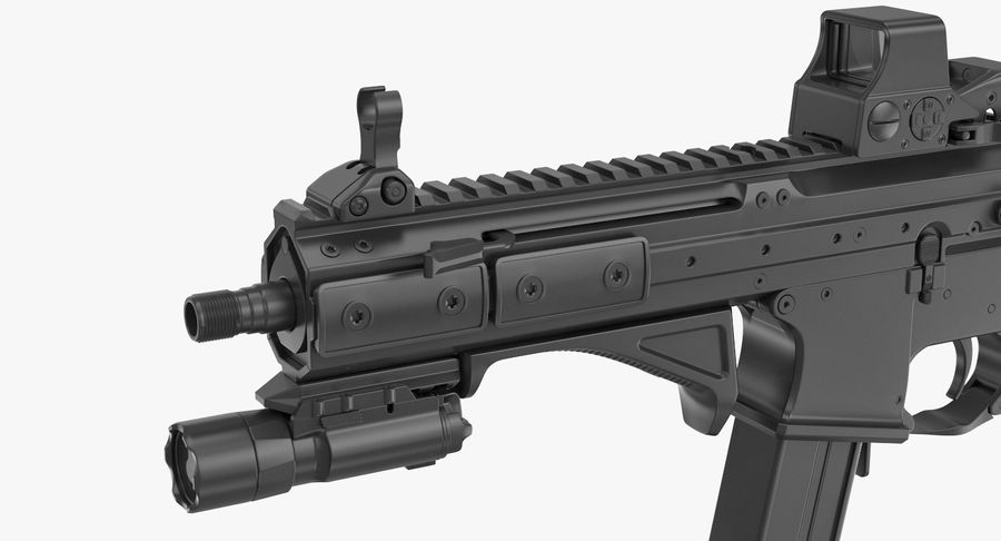 LWRC SMG-45 Inga material royalty-free 3d model - Preview no. 6