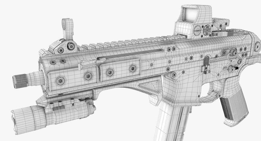 LWRC SMG-45 Inga material royalty-free 3d model - Preview no. 21