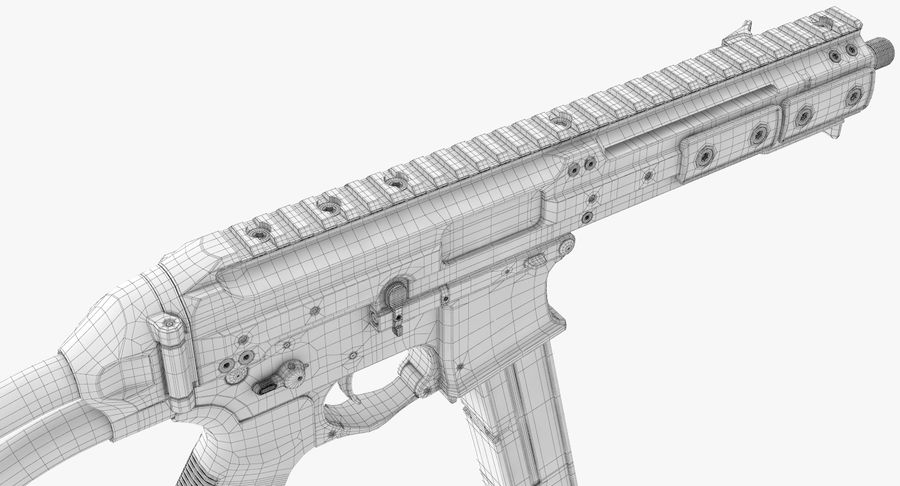 LWRC SMG-45 Inga material royalty-free 3d model - Preview no. 22