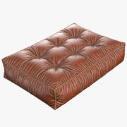 Leather cushion with pleats 3d model