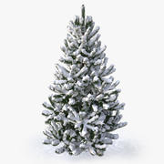 snowy pine tree 3d model