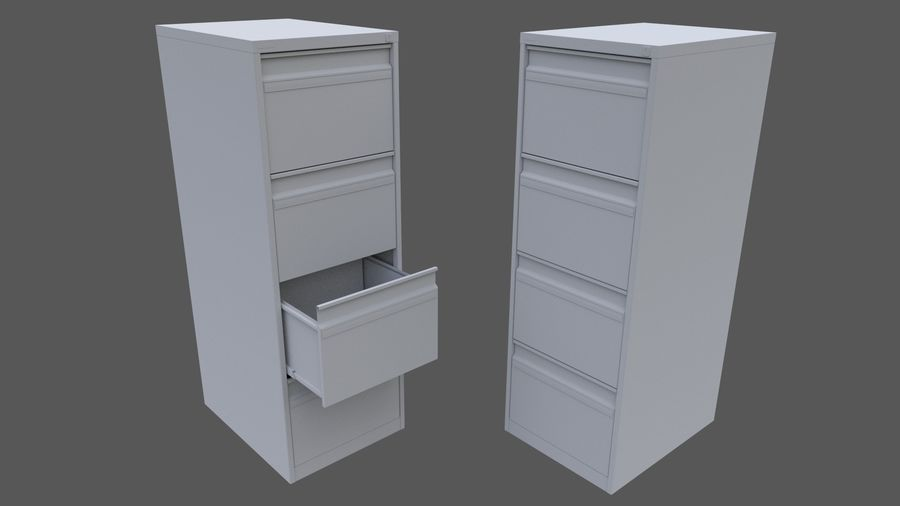 Filing Cabinet royalty-free 3d model - Preview no. 4