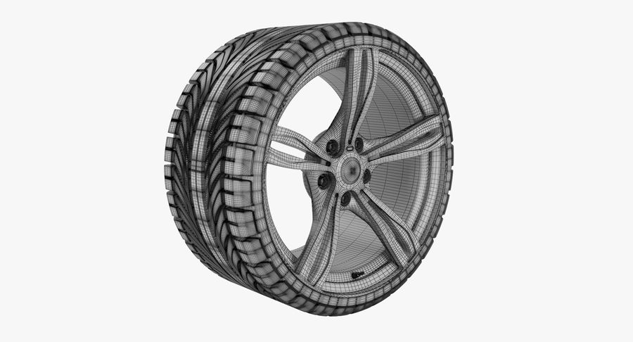 Wheel car royalty-free 3d model - Preview no. 8
