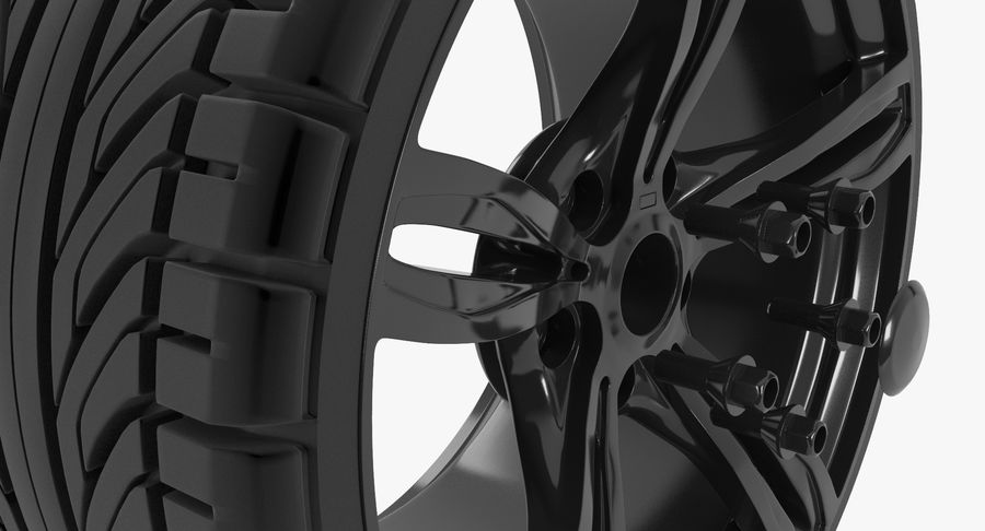 Wheel car royalty-free 3d model - Preview no. 6