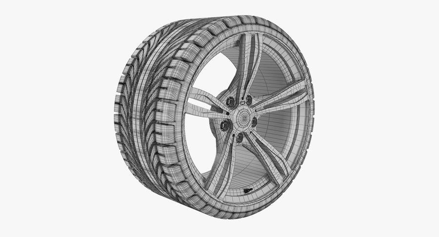Wheel car royalty-free 3d model - Preview no. 7