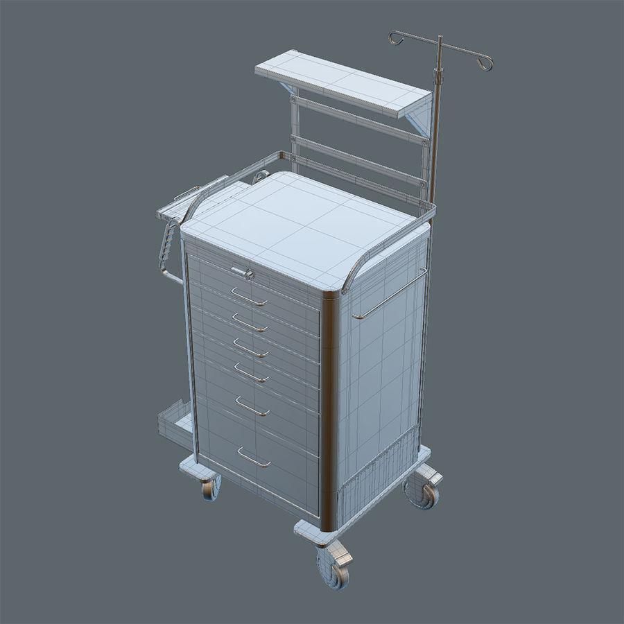 Medical Crash Cart royalty-free 3d model - Preview no. 5