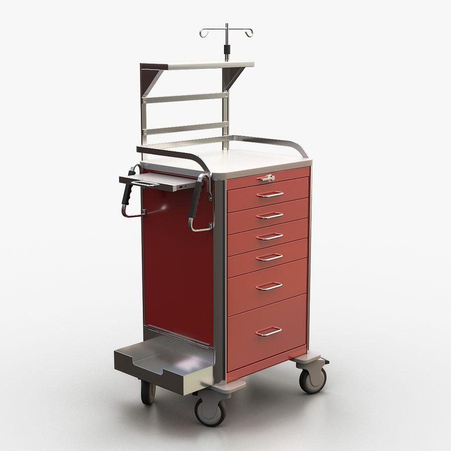 Medical Crash Cart royalty-free 3d model - Preview no. 1