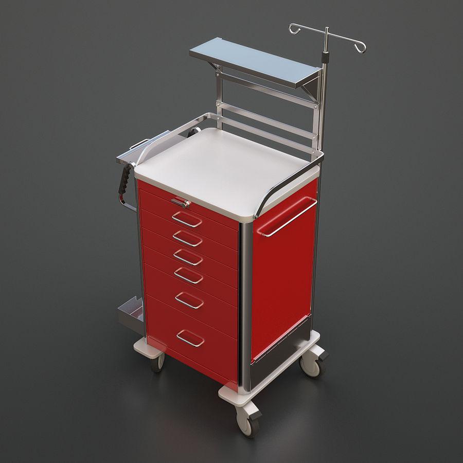 Medical Crash Cart royalty-free 3d model - Preview no. 3