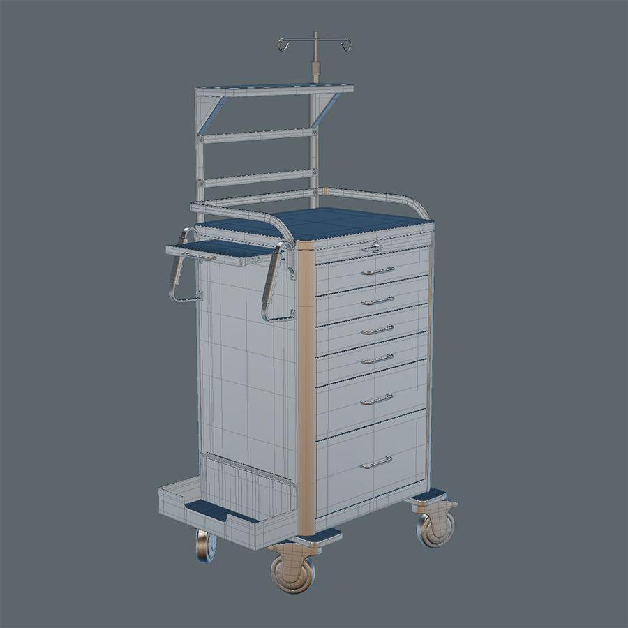 Medical Crash Cart royalty-free 3d model - Preview no. 4