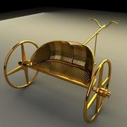 Mısır arabası 3d model