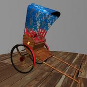 Hand pull rickshaw 3d model