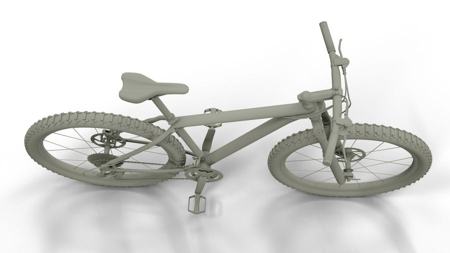 MTB Cube bike royalty-free 3d model - Preview no. 4