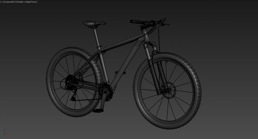 MTB Cube bike royalty-free 3d model - Preview no. 6