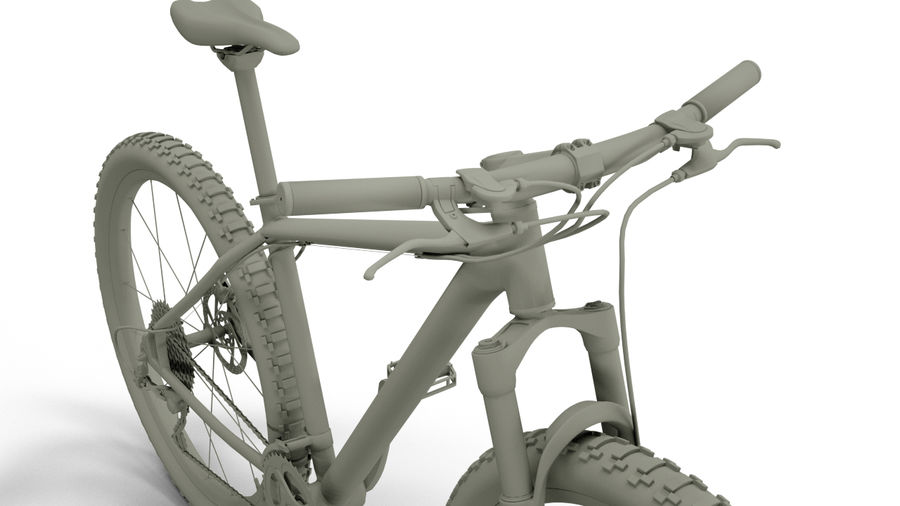 MTB Cube bike royalty-free 3d model - Preview no. 5