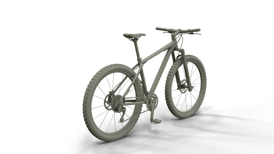 MTB Cube bike royalty-free 3d model - Preview no. 2