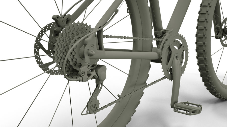 MTB Cube bike royalty-free 3d model - Preview no. 3