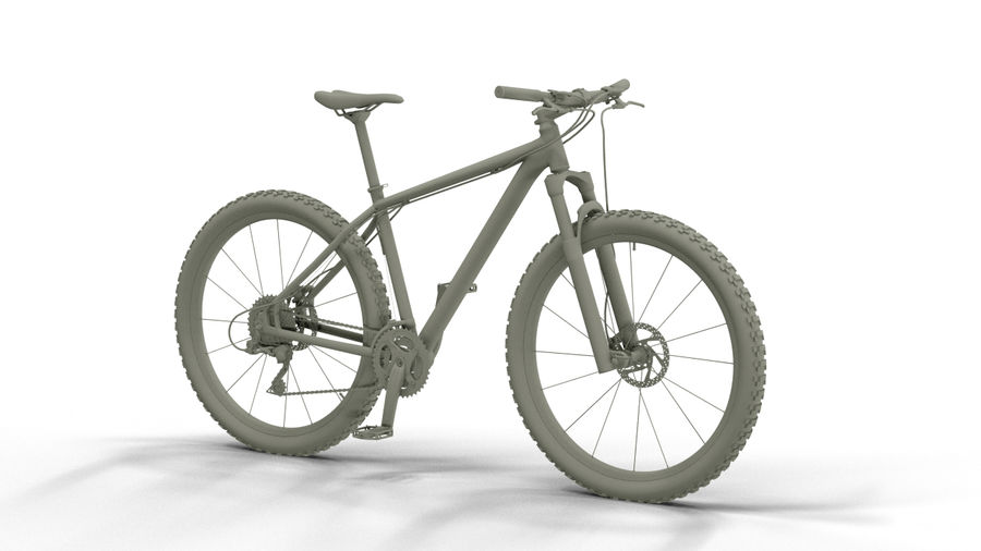 MTB Cube bike royalty-free 3d model - Preview no. 1
