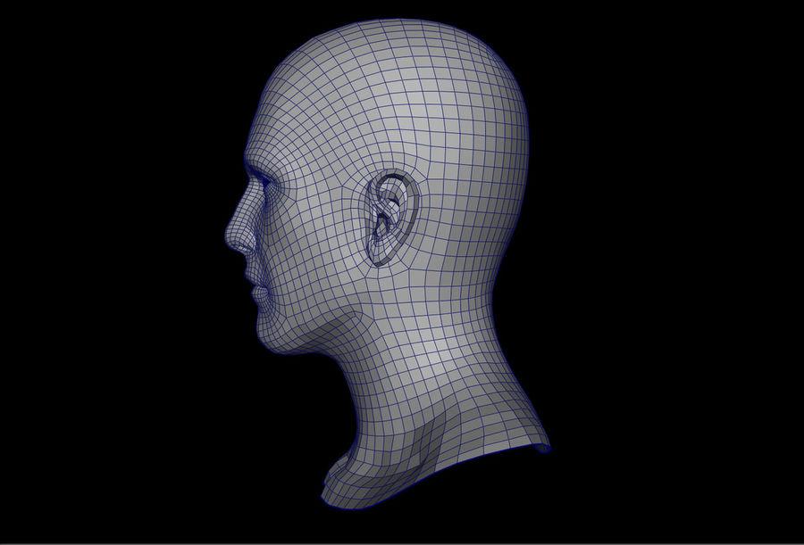 남성 헤드베이스 메쉬 royalty-free 3d model - Preview no. 2
