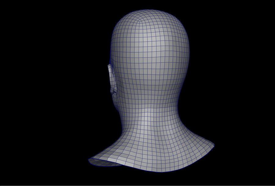 남성 헤드베이스 메쉬 royalty-free 3d model - Preview no. 3