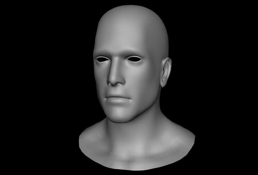남성 헤드베이스 메쉬 royalty-free 3d model - Preview no. 5