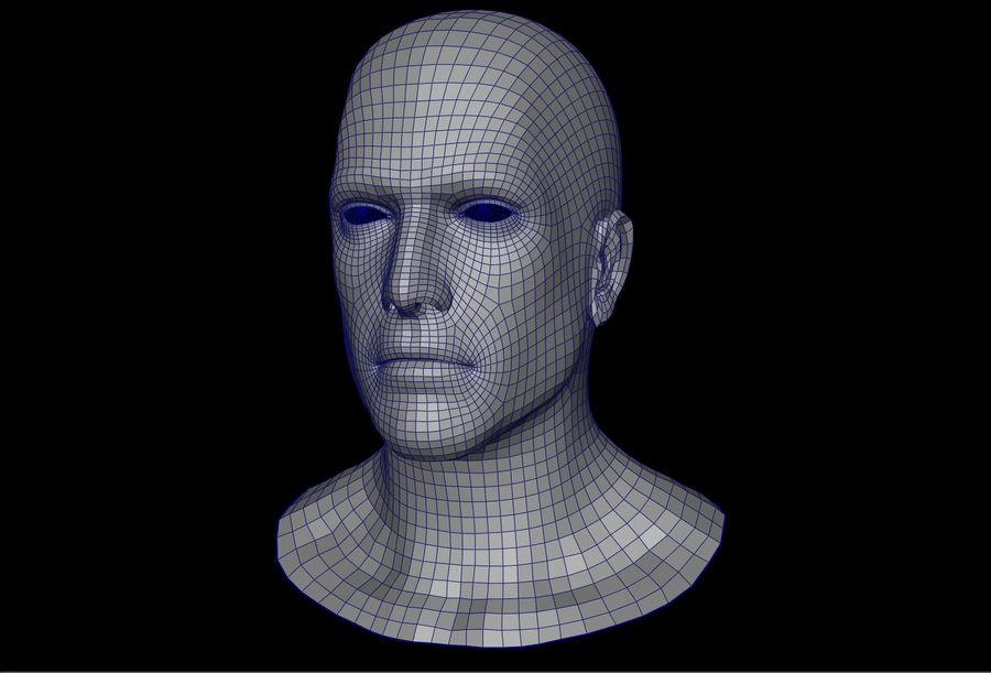 남성 헤드베이스 메쉬 royalty-free 3d model - Preview no. 1