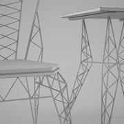 Zuo Modern Contemporary Heavy Metal Stuhl und Bistrotisch 3d model