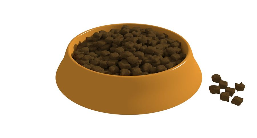 Dog Bowl with Food royalty-free 3d model - Preview no. 1