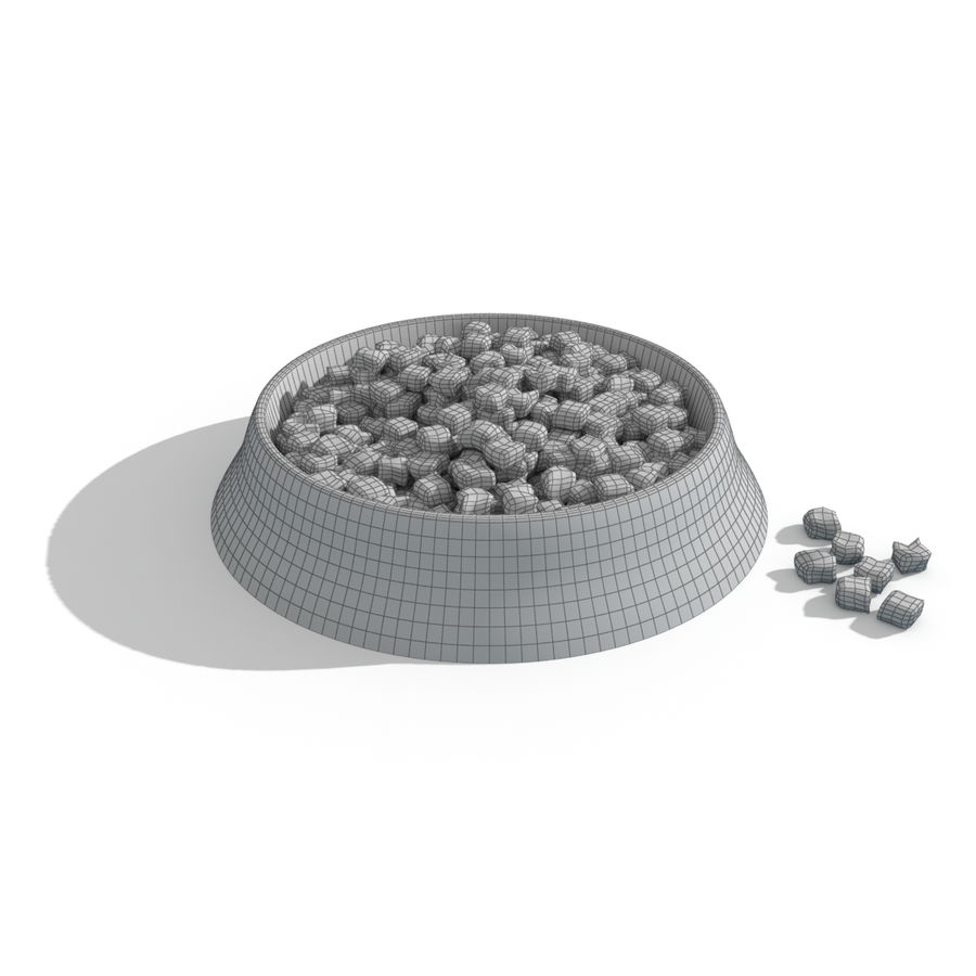 Dog Bowl with Food royalty-free 3d model - Preview no. 3