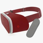 Google Daydream View VR Crimson 3d model