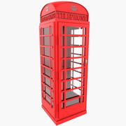 London Phone Booth Empty 3d model