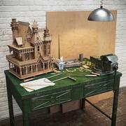 Skapa Fantasy Villa 3d model
