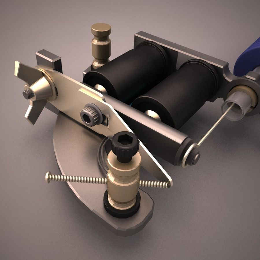 Tattoo Machine royalty-free 3d model - Preview no. 7
