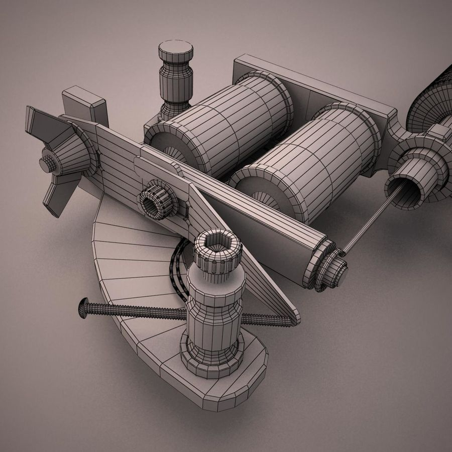 Tattoo Machine royalty-free 3d model - Preview no. 14