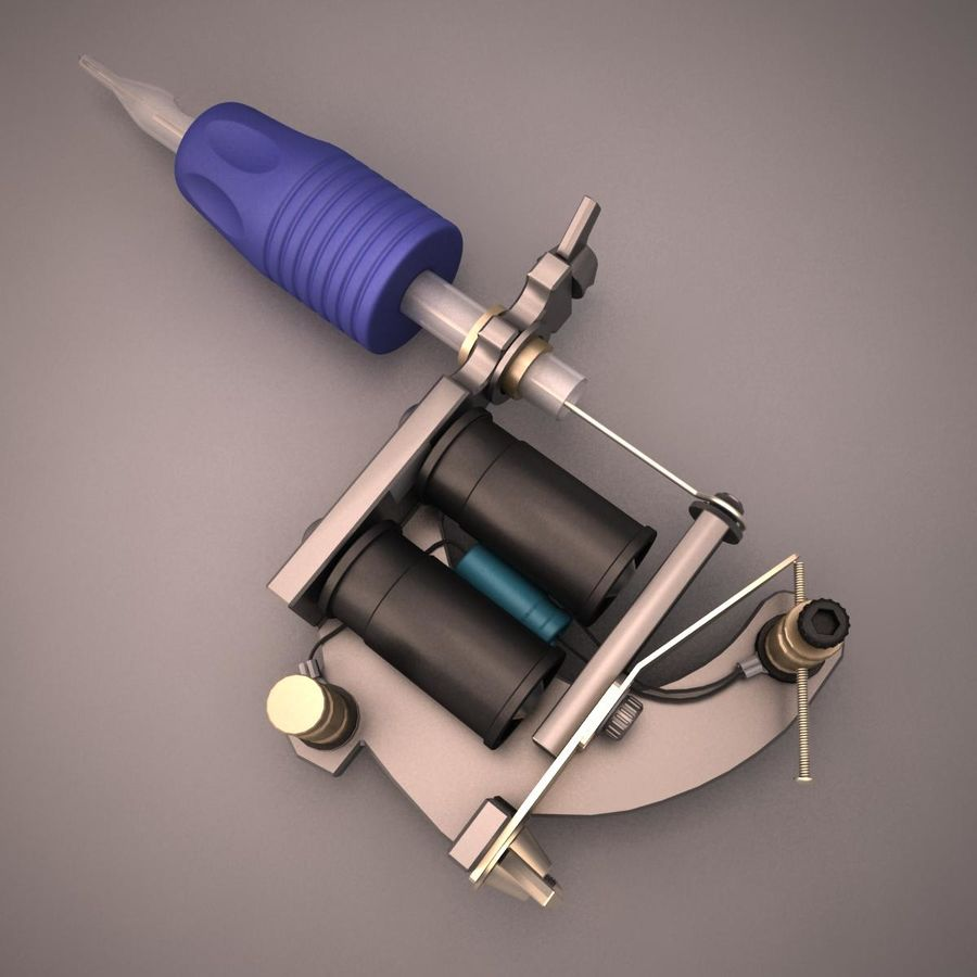Tattoo Machine royalty-free 3d model - Preview no. 4