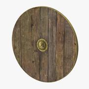 中世の木製シールド 3d model