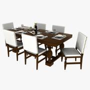 Dining Table Set 02 3d model