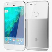 Google Pixel Muito Prateado 3d model