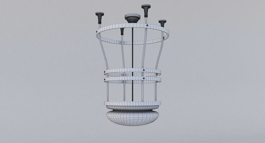 lampa sufitowa royalty-free 3d model - Preview no. 3