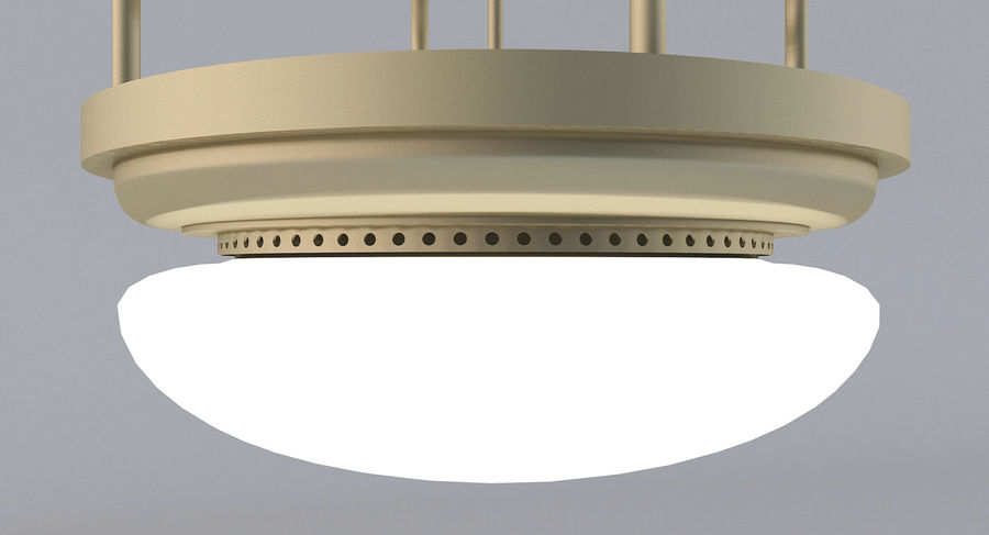 lampa sufitowa royalty-free 3d model - Preview no. 6