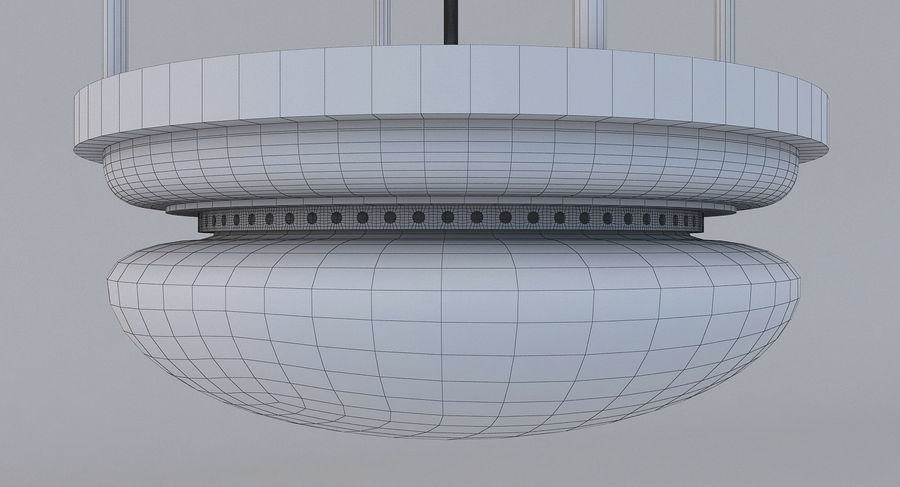 lampa sufitowa royalty-free 3d model - Preview no. 7
