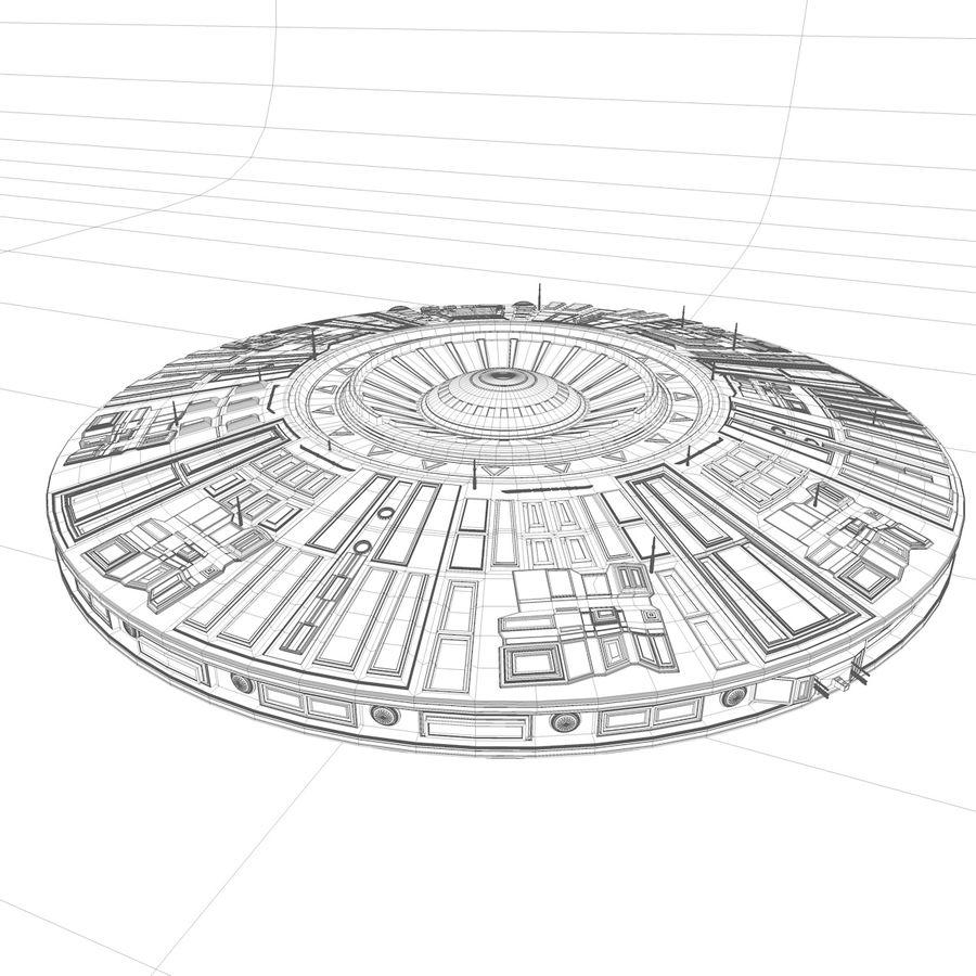 Statek kosmiczny UFO royalty-free 3d model - Preview no. 2