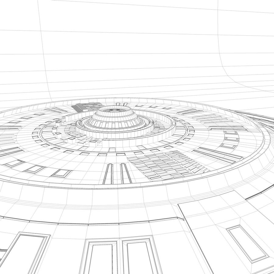 UFO Spaceship royalty-free 3d model - Preview no. 6