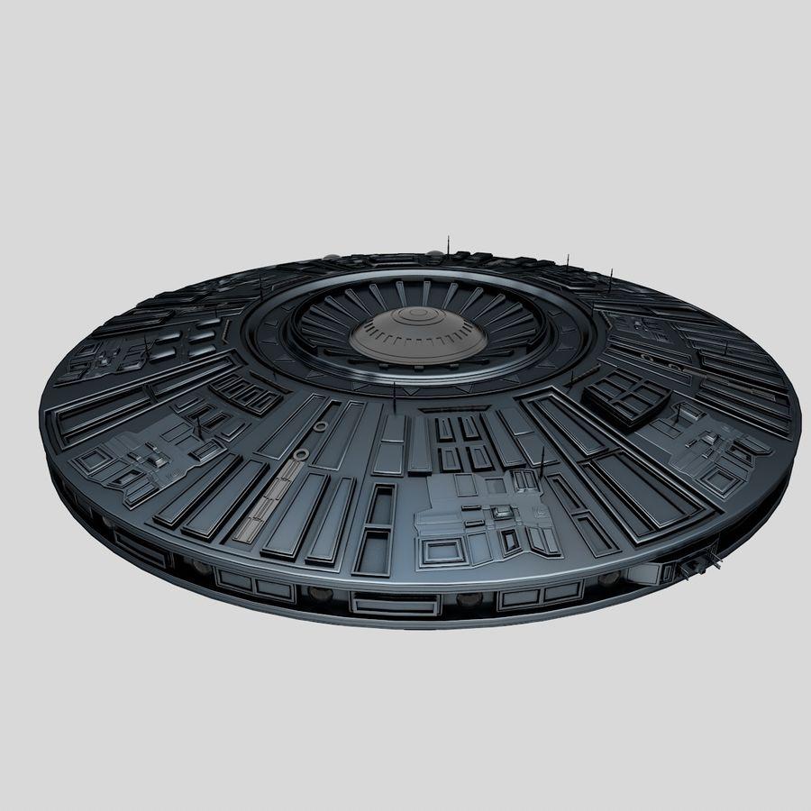 Statek kosmiczny UFO royalty-free 3d model - Preview no. 1