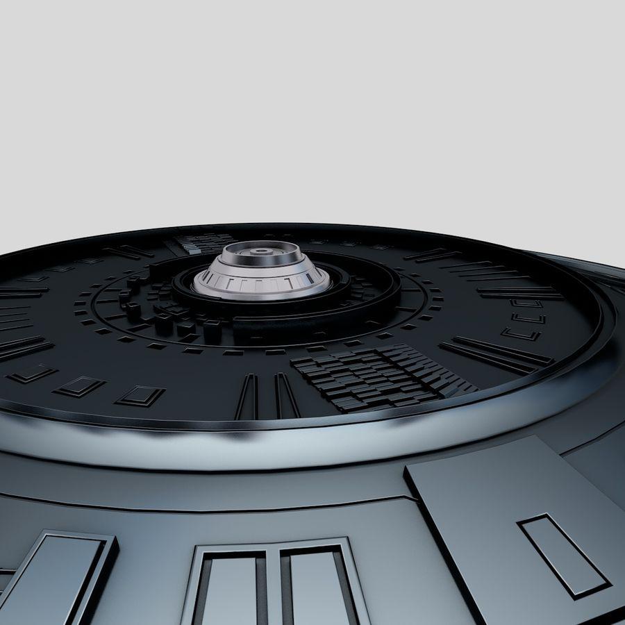 Statek kosmiczny UFO royalty-free 3d model - Preview no. 5