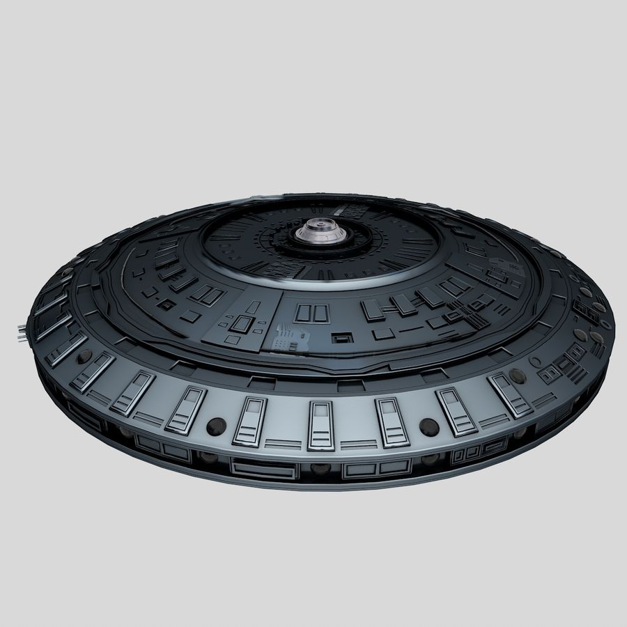 UFO Spaceship royalty-free 3d model - Preview no. 3