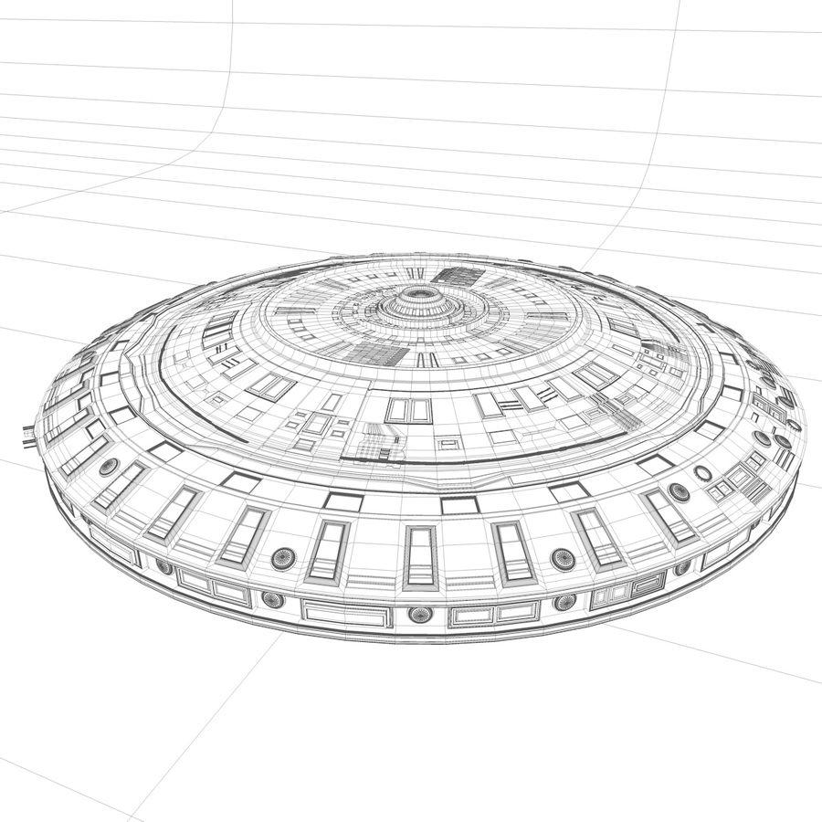 Statek kosmiczny UFO royalty-free 3d model - Preview no. 4